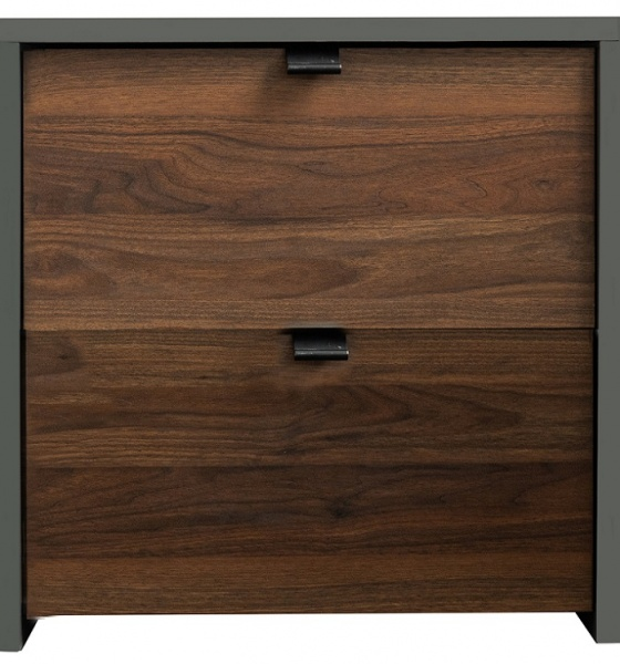 Boyd 2 Drawer Walnut Bedside Table
