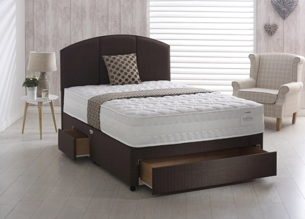 Healthbeds Heritage Latex 1400 Pocket Sprung with Latex Divan Bed Set