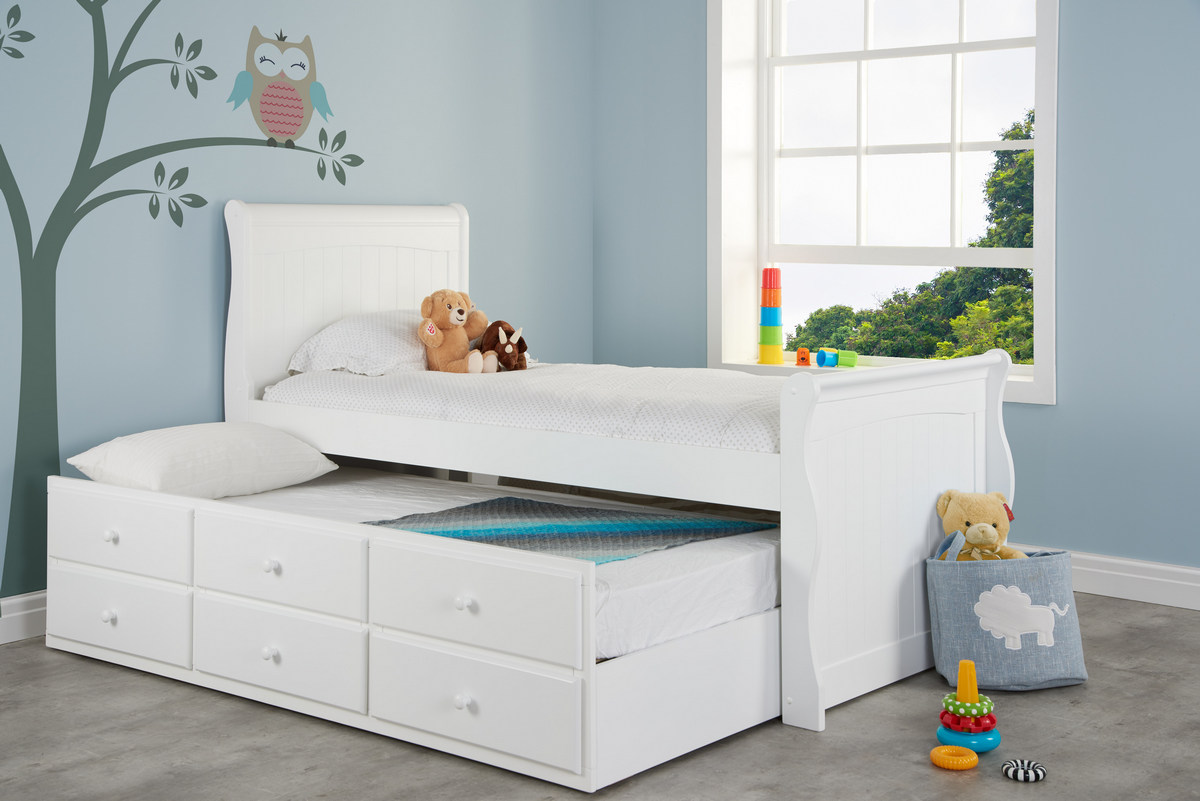 Birlea Parma Kids Cabin Trundle Bed Frame