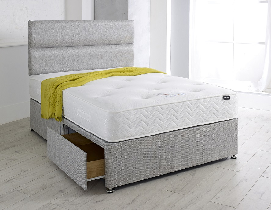 Pearl 1000 Pocket Sprung Divan Bed with Headboard