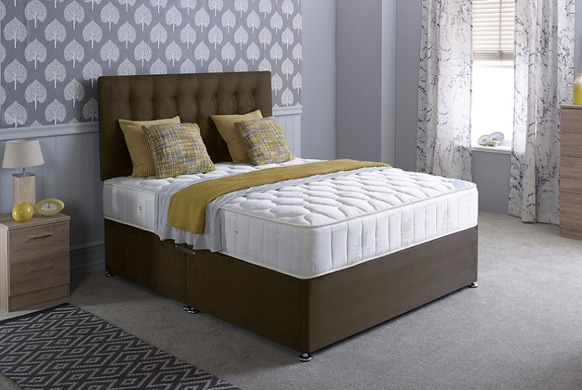 Bedmaster Pinerest 13.5g Coil Sprung Divan Bed Set