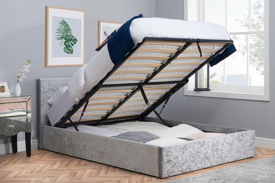 Enjoyable Birlea Berlin Crushed Velvet Ottoman Bed Forskolin Free Trial Chair Design Images Forskolin Free Trialorg