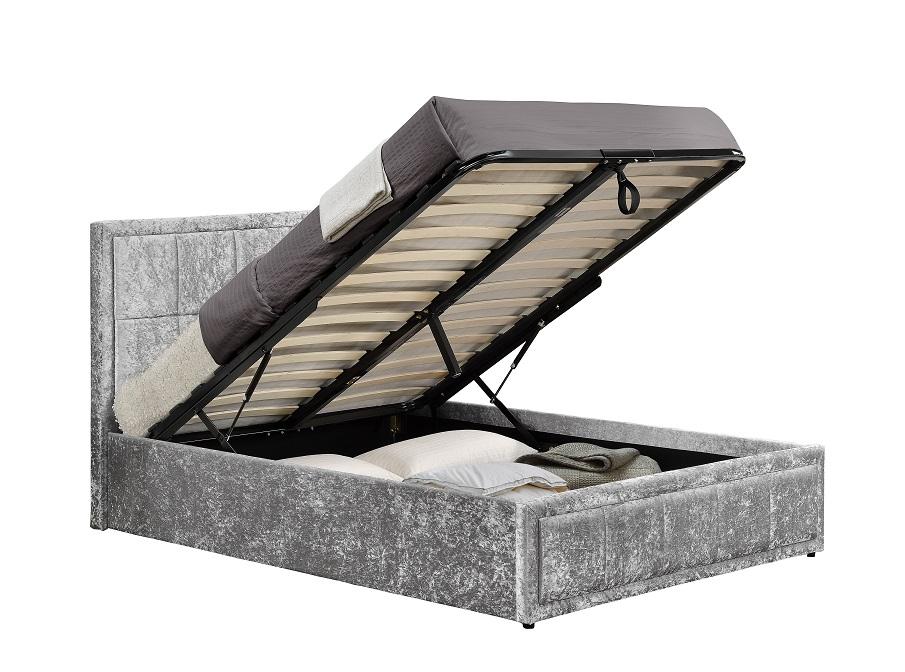 Pleasing Birlea Hannover Crushed Velvet Ottoman Bed Creativecarmelina Interior Chair Design Creativecarmelinacom