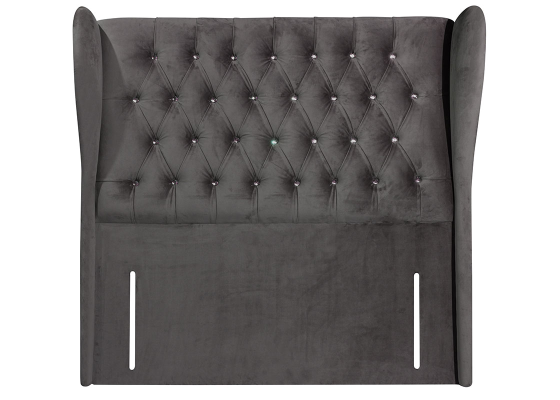 Sweet Dreams Columbia Upholstered Fabric Floor Standing Headboard
