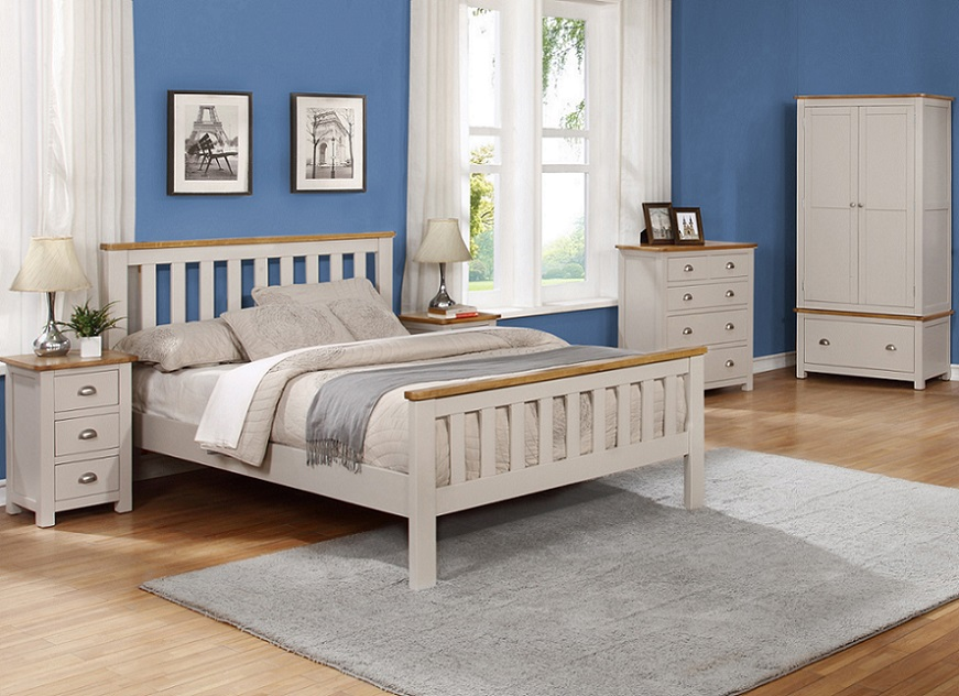 Sweet Dreams Cooper Grey Wooden Bed Frame