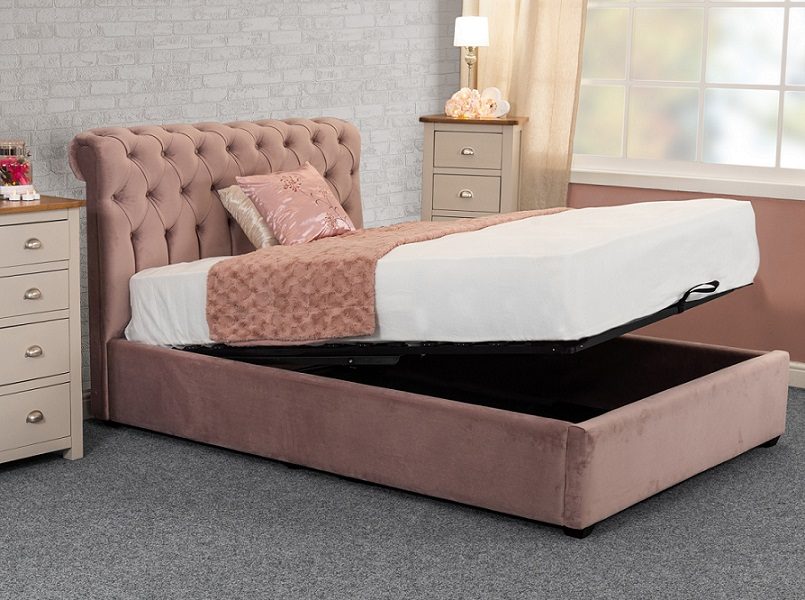 Sweet Dreams Isla Upholstered Fabric Ottoman Bed Frame