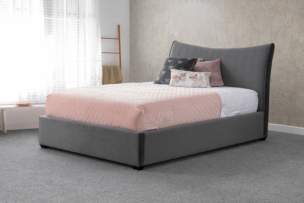 Sweet Dreams Poppy Upholstered Fabric Bed Frame