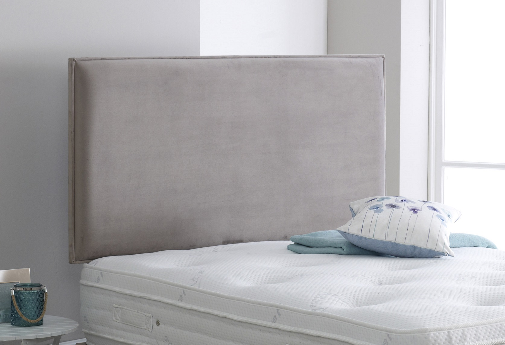 Vogue Dame Premium Upholstered Fabric Headboard Best Beds Direct