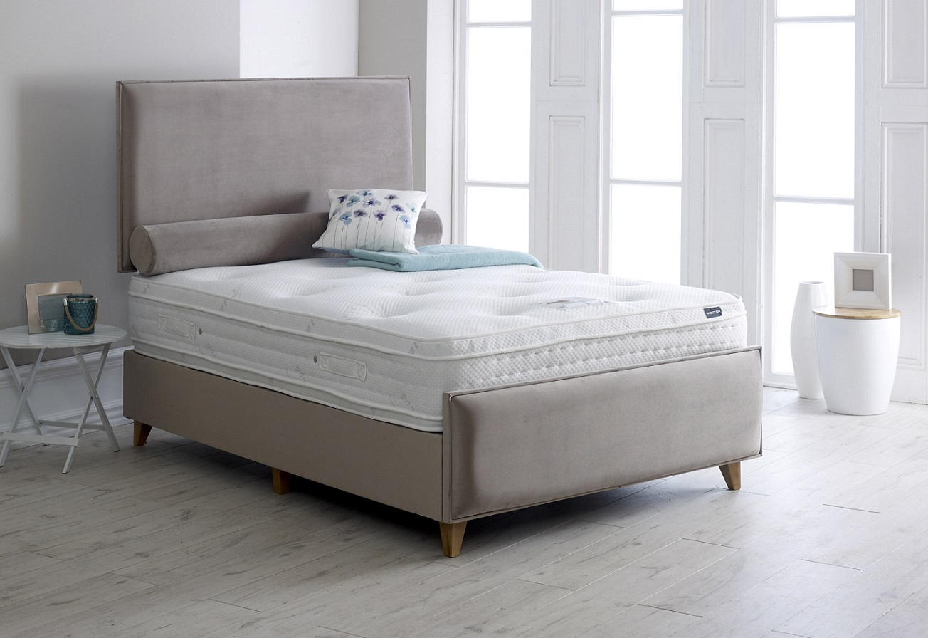 Vogue Dame Upholstered Fabric Storage Bed Frame