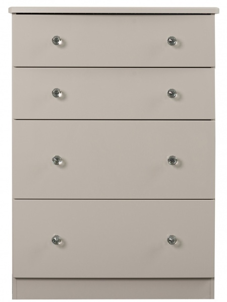 Oscar High Gloss Grey 4 Drawer Chest of Drawers