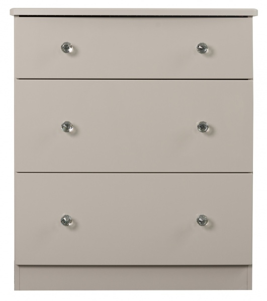 Oscar High Gloss Grey 3 Drawer Chest of Drawers