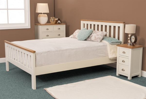 Sweet Dreams Cooper Cream Wooden Bed Frame