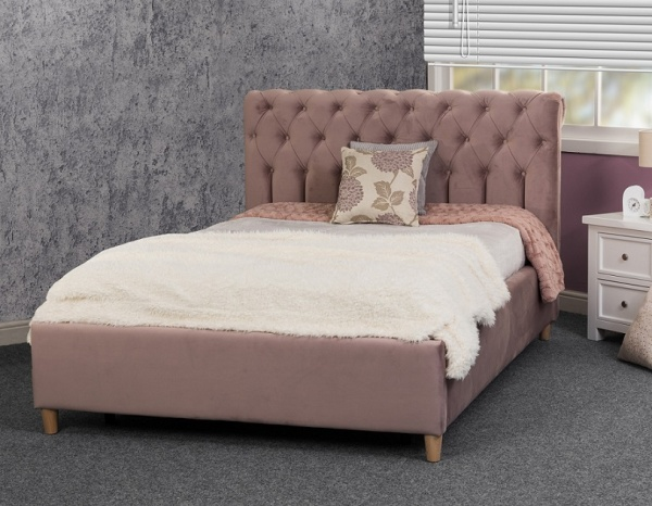 Sweet Dreams Isla Upholstered Fabric Bed Frame