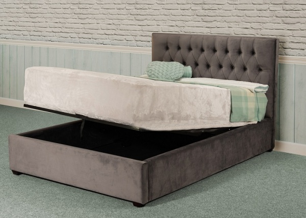 Sweet Dreams Layla Upholstered Fabric Ottoman Bed Frame