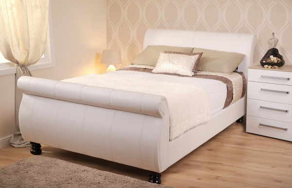 Sweet Dreams Mandarin Snow Faux Leather Bed Frame