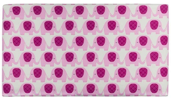 Sweet Dreams Ziggy Pink Upholstered Fabric Headboard