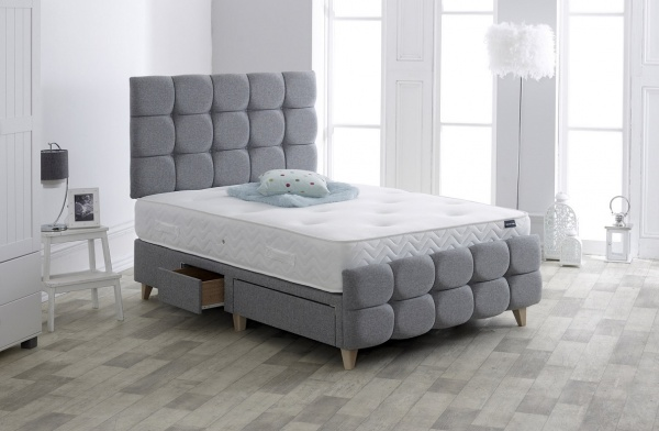 Vogue Dorchester Upholstered Fabric Storage Bed Frame