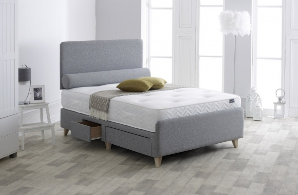 Vogue Penzance Upholstered Fabric Storage Bed Frame