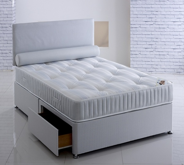 Repose Majestyk Orthopaedic Reinforced Spring Unit with Hypoallergenic Fillings Divan Bed Set